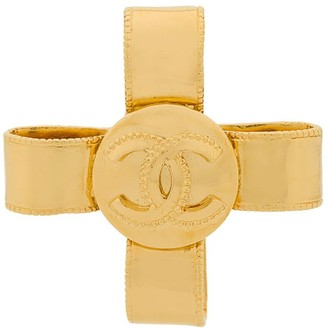 Chanel Pre-Owned 1997 logo bow brooch