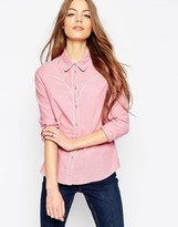 Asos Fitted Chambray Shirt with Piping