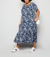 New Look Curves Floral and Spot Midi Dress