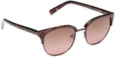 Joe's Jeans Tortoise Polarized Base 6 Browline Sunglasses