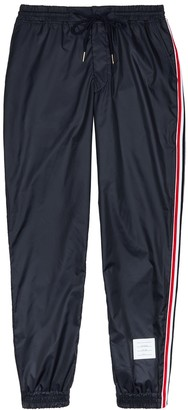 Thom Browne Navy striped shell sweatpants