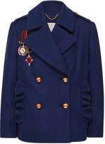 Maria Lucia Hohan Midnite Army Style Pea coat