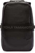 Y-3 Black Leather Qasa Backpack