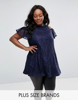 AX Paris Plus Lace Tunic Top