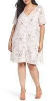 Glamorous Plus Size Women's Button Front Floral Shift Dress