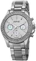August Steiner Women's AS8100YG Swiss Quartz Multifunction Diamond & Crystal Gold-tone Bracelet Watch