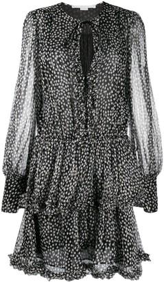 Stella McCartney Frilled Polka-Dot Print Dress