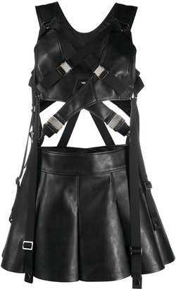Junya Watanabe Faux-Leather Mini Dress