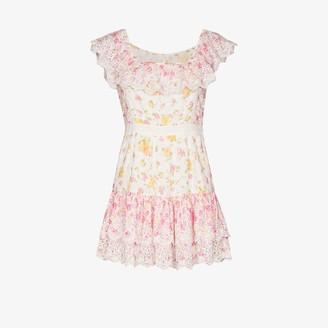LoveShackFancy Denver printed cotton mini dress