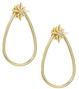 Roberto Coin Women's Disney x Princess Cinderella Diamond Stud & 18K Yellow Gold Teardrop Hoop Jacket Ear