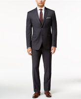 Perry Ellis Portfolio Charcoal Textured Pindot Slim-Fit Suit