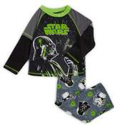 AME Sleepwear Little Boy's and Boy's Two-Piece Star Wars Pajama Top and Pants Set