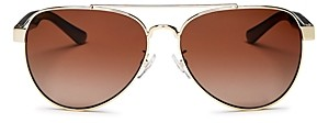 Tory Burch Women's Polarized Brow Bar Aviator Sunglasses, 57mm
