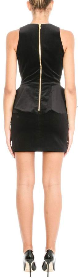 Pierre Balmain Peplum V-neck Dress