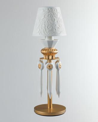 Lladro Belle de Nuit Lithophane Lamp Gold