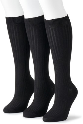 Sonoma Goods For Life Women's Knee-High Soft & Comfortable Socks (3-Pack)