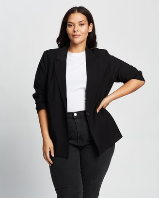 Cotton On Curve - Women's Black Blazers - Curve Slouchy Dad Blazer - Size 16 at The Iconic