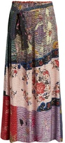 BY WALID Nadine floral-print silk maxi skirt