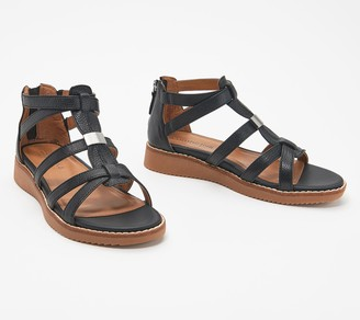 Comfortiva Leather Cross Strap Sandals - Wyola