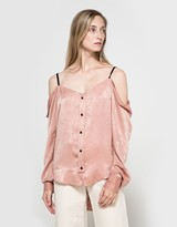 Satin Off Shoulder Blouse