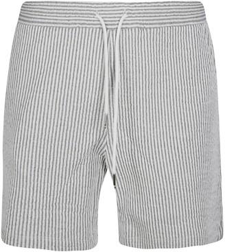 Thom Browne Mid Thigh Stripe Shorts