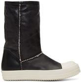 Rick Owens Black Shearling Boots