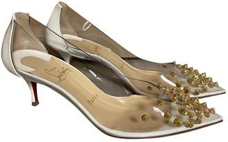 Christian Louboutin Degrastrass White Plastic Heels