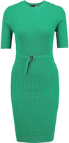 Love Moschino Belted cable-knit dress