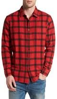 RVCA Men's 'Torched' Jacquard Plaid Flannel Shirt
