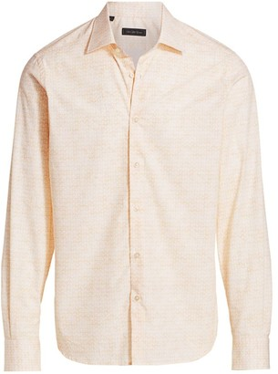Saks Fifth Avenue COLLECTION Lemon Print Sport Shirt