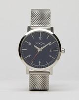 Nixon Rollo 38 Mesh Watch In Silver