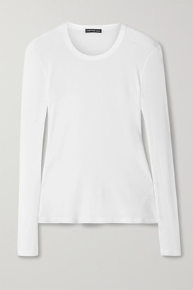 James Perse Ribbed Cotton Top - White