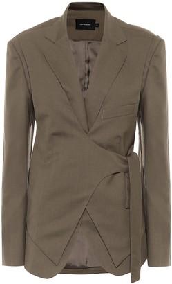 Low Classic Wool wrap blazer