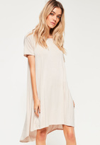 Missguided White Drop Back Swing Dress