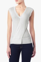 7 For All Mankind Multi-Ribbed Sweater In Cream