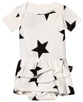 Nununu White Star Onesie Skirt