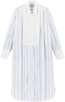 Kenta Matsushige X La Redoute Striped Cotton Tunic Shirt Dress with Pleats