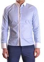 Bikkembergs Men's Light Blue Cotton Shirt.