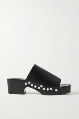 Proenza Schouler Studded Leather Platform Mules - Black