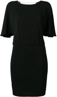 Patrizia Pepe Flutter Sleeve Dress