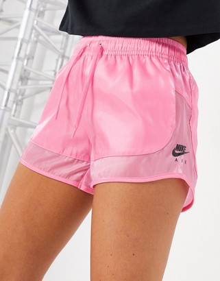Nike translucent shorts in pink