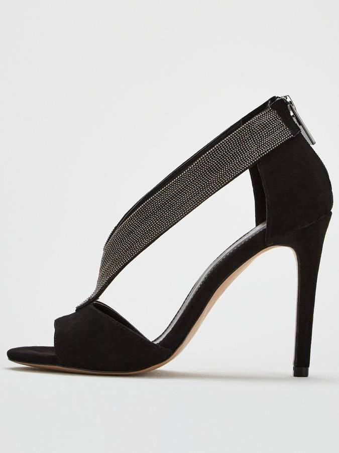 Carvela Griffin Heeled Sandal - Black