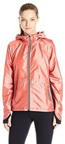 Nanette Lepore Play Women's Iridescent Ripstop and Compression Knit Packable Windbreaker