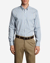 Eddie Bauer Men's Wrinkle-Free Slim Fit Pinpoint Oxford Shirt - Blues