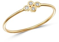 Zoë Chicco 14K Yellow Gold Tiny Quad Diamond Ring