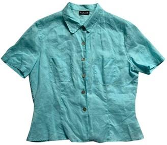 Cacharel Blue Linen Top for Women