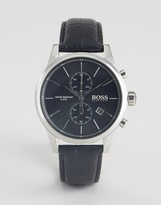 BOSS 1513279 All Black Leather Watch