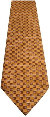 Lancel Orange Silk Ties