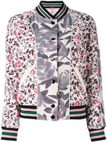 Coach printed polyester reversible bomber jacket - women - Polyester/Viscose - 6