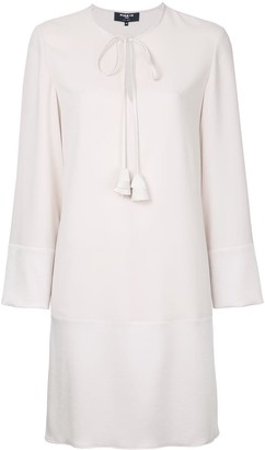 Paule Ka long sleeve woven mini dress